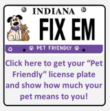 Indiana Pet License Plate